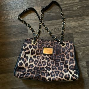 Nicole Miller Cheetah Print Pursue leather sides